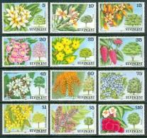 1984 St.Vincent Piante Plants Plantes Alberi Trees Arbres Fiori Flowers Fleurs Set MNH** B524 - St.Vincent (1979-...)