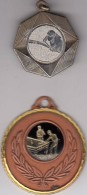 Biljart 2 Medailles Van Tornooien - Billares
