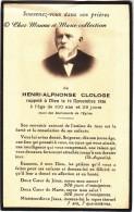 NE A COURTONNE LA MEURDRAC 1836 - HENRI ALPHONSE CLOLOGE CENTENAIRE - CALVADOS - DECEDE A BORDEAUX - AVIS DE DECES - Obituary Notices