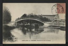 51 CHALONS SUR MARNE - Passerelle Sur Le Canal - Châlons-sur-Marne