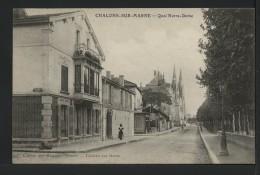 51 CHALONS SUR MARNE - Quai Notre Dame - 1908 - Châlons-sur-Marne