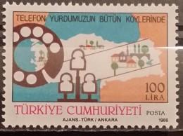 Turkey, 1988, Mi:  2823 (MNH) - 1921-... Republic