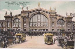 PARIS - LA GARE DU NORD ET BOULEVARD DENAIN - N° 4255 - Stations, Underground