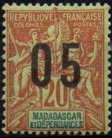 MADAGASCAR - 05 Sur 20 C.. De 1912 Avec Chiffres Espacés TTB - Madagascar (1889-1960)