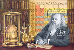 Russia 2009 Mih. 1534 (Bl.117) Chemist Mendeleev MNH ** - 1992-.... Fédération