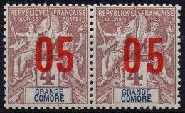GRANDE COMORE - 05 Sur 4 C. De 1912 Avec Chiffres Espacés Tenant à Normal Neufs TTB - Grande Comore (1897-1912)