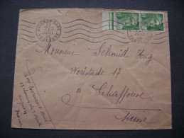 Cover 1946 Stamp Marianne Of Gandon 5 RF Band Of Two, Postmark Avignon Gare Vaucluse - To Schaffhouse, Switzerland