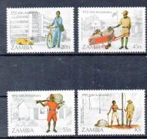 ZAMBIE    Timbres Neufs ** De 1985  ( Ref 137 ) Facteur- Courrier - Zambie (1965-...)