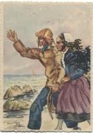 CPSM - Illustration YANN TREGOR - Images De BRETAGNE - OUESSANT - Edition Riou-Nédelec /N°3 - Bretagne