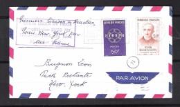 FRANCE 1219 Et 1225 Sur Lettre En Poste Restante Pour New York.Première Liaison Paris-New York Par Boeing 707 Sans Escal - Marcophilie (Lettres)