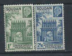 Soudan  N° 129 / 30 X Porte De Djenné Et Mal Pétain Les 2 Valeurs Trace De Charnière Sinon TB