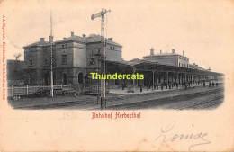 CPA  HERBESTHAL HERBESTAL  BAHNHOF GARE STATION - Lontzen