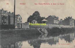 CPA  HERSTAL RUE HAUTE MAREXHE ET QUAI DU CANAL - Herstal