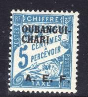 Oubangui  Taxe N° 1 XX 5 C. Bleu, Sans Charnière TB