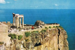 19528. Postal RHODES (Grecia) Acropolis De LINDOS, Arqueologia - Grecia