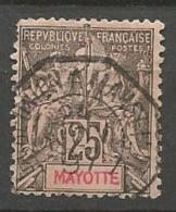 MAYOTTE  N° 8 OBLITERATION OCTOGONAL LA REUNION A MARSEILLE - Mayotte (1892-2011)