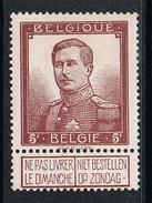 BELGIQUE N°122 N* - 1915-1920 Alberto I