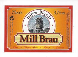 Etiquette De  Bière Blonde  -   Mill Brau  - - Bier