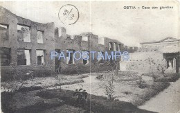 58497 ITALY OSTIA ROMA HOUSE WITH GARDEN CIRCULATED TO ARGENTINA POSTAL POSTCARD - Italia