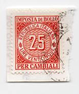 F2323 - Imposta Di Bollo Per Cambiali - Erinnofilia - Marca Da Bollo - Storia Postale - 1946-.. République