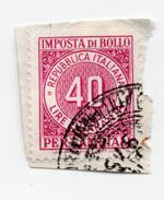 F2329 - Imposta Di Bollo Per Cambiali - Erinnofilia - Marca Da Bollo - Storia Postale - 1946-.. République
