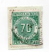 F2340 - Imposta Di Bollo Per Cambiali - Erinnofilia - Marca Da Bollo - Storia Postale - 1946-.. République