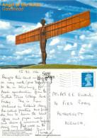 Angel Of The North, Gateshead, Co Durham, England Postcard Posted 2004 Stamp - Durham