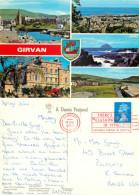 Girvan, Ayrshire, Scotland Postcard Posted 1990 Stamp - Ayrshire