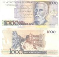 BRAZIL BRESIL BRASIL - 1000 1.000 CRUZADOS - MACHADO DE ASIS BILHETE BILLETE PAPEL MONEDA BANK NOTE TBE - Brazil