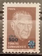 Turkey, 1989, Mi:  2864 (MNH) - 1921-... Republic
