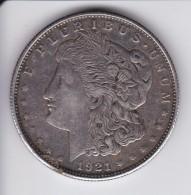 MONEDA DE PLATA DE ESTADOS UNIDOS DE 1 DOLLAR DEL AÑO 1921  (COIN) SILVER-ARGENT- MORGAN - EDICIONES FEDERALES