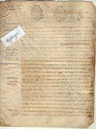 VP5600 - PARIS X LAGNY - Acte De 1784 - Les Religieux ....Rente - Maison à Lagny - Manuscrits