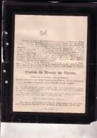 BEEK LIMBOURG Baron De ROSEN De HAREN 1815-1904 Ordre Oranje-Nassau échevin De BEEK états Provinciaux Doodsbrief - Overlijden