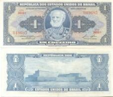 BRAZIL BRESIL BRASIL - 1 UM CRUZEIRO - MARQUES DE TAMANDARE ESCOLA NAVAL BILLETE BANK NOTE BILHETE TBE - Brazil