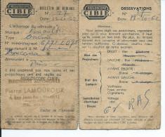 REGLOSCOPIE CIBIE Bulletin De Réglage Année 1962 -Electicité Automobile Pierre LAMOUROUX Biarritz - Vieux Papiers