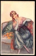 BOMPARD - Jolie FEMME - Schöne FRAU - Nice LADY - Jolie Carte Fantaisie Italienne Portrait Femme Bompard - Illustrateurs & Photographes