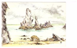 56 Belle Ile En Mer Port Coton Aquarelle De Robert Lepine Illustration Illustrateur - Belle Ile En Mer