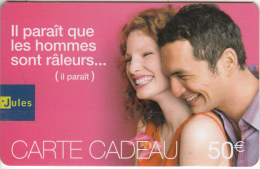 FRANCE - Couple, FNAC Magnetic Gift Card 50 Euro, Unused - Gift Cards