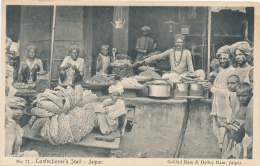 INDIA:  No. 71 - Confectioner's Stall - Jaipur, By Gobind Ram & Oodey Ram, Circa 1920 - Animated - India