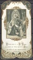 23 Mai 1911  Image Religieuse Avec Paillettes D'or . Souvenir De La 1ére Communion  . Eglise Saint - Marcel à Paris. - Images Religieuses