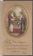 12 Juin 1929  Image Religieuse . Souvenir De La 1ére Communion  . Eglise Saint Pierre  à Petit Quevilly. - Santini