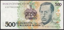Brazil 500 Cueiros O 500 Cruzados Novos P1990 P226b UNC - Brazil