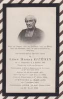 6AI4037 IMAGE PIEUSE RELIGIEUSE Mortuaire LEON HENRI GUERIN 1911 TERTIERE ST FRANCOIS CHAILLAND MAYENNE   2 SCANS - Devotion Images
