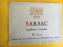1930 - Barsac 1937 Collection Des Caves Du Célèbre Restaurant Drouant Est à Paris - Bordeaux