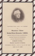 6AI4039 IMAGE PIEUSE RELIGIEUSE Mortuaire ABBE CANUEL 1930 CHARTRES DREUX LA LOUPE VITRAY SOUS BREZOLLES 2 SCANS - Imágenes Religiosas