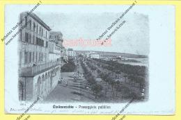 CPA CIVITAVECCHIA Passeggiata Pubblica 1917 - Civitavecchia