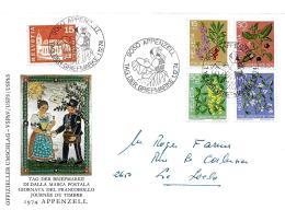 """28255 - Enveloppe Avec Oblit Spéciale """"Journée Du Timbre 1974 Appenzell"""" - Postmark Collection"""
