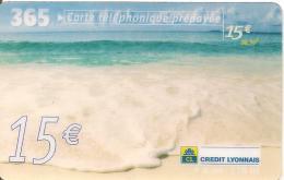 CARTE-PREPAYEE-FRANCE-365  -15€-2002-CREDIT LYONNAIS-LA MER-GRATTEE-TBE - Frankreich