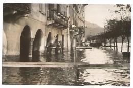 """CARTOLINA FOTOGRAFICA """" ALLAGAMENTO A MORCOTE """" - NOVEMBRE 1951 . - TI Ticino"""