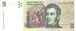 ARGENTINA 5 PESOS ND (2013) P-353a UNC SERIES H, SIGN: PONT &  BOUDOU [ AR353a5 ] - Argentina